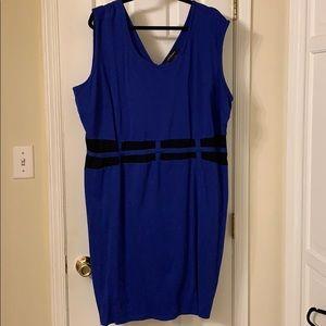 Ashley Stewart 26 Plus Little Blue Dress Bodycon
